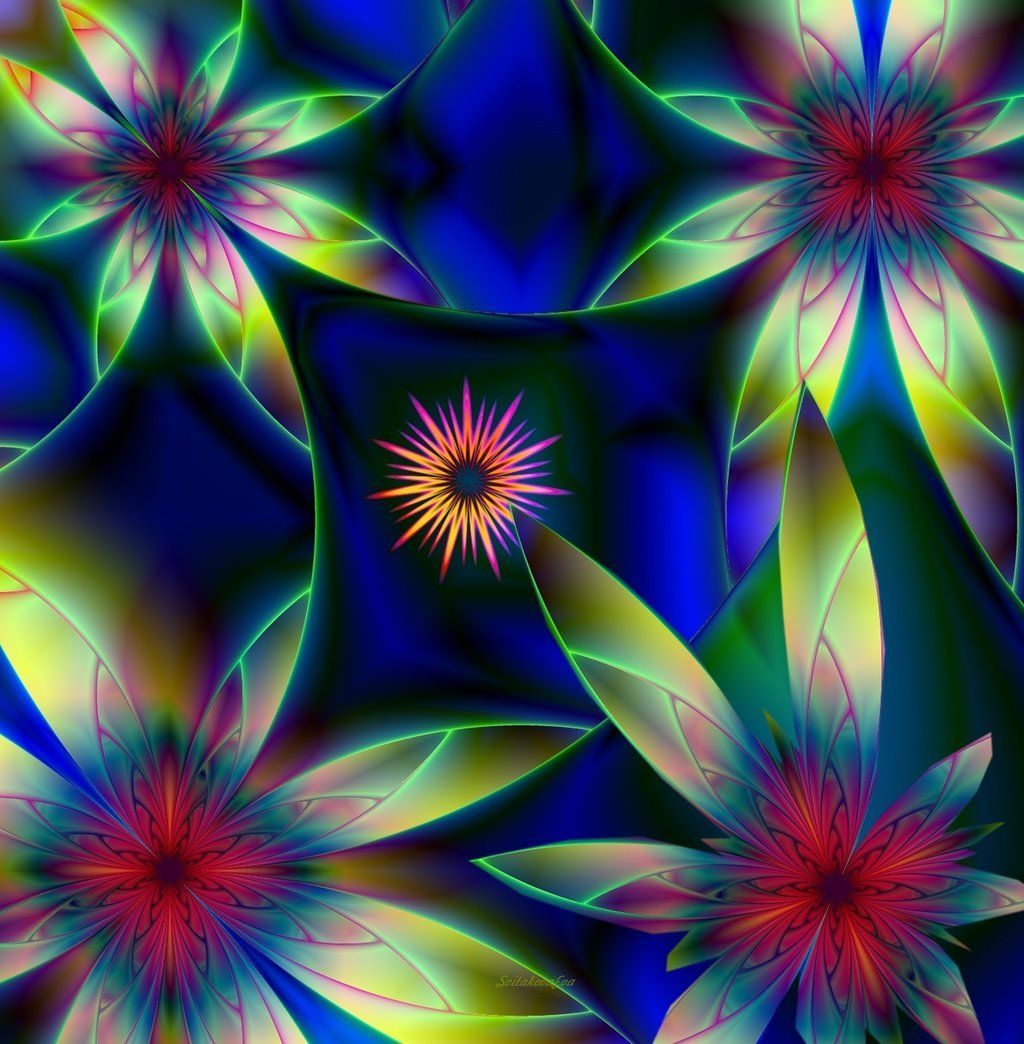 Floral Abstract By SvitakovaEva.deviantart.com On
