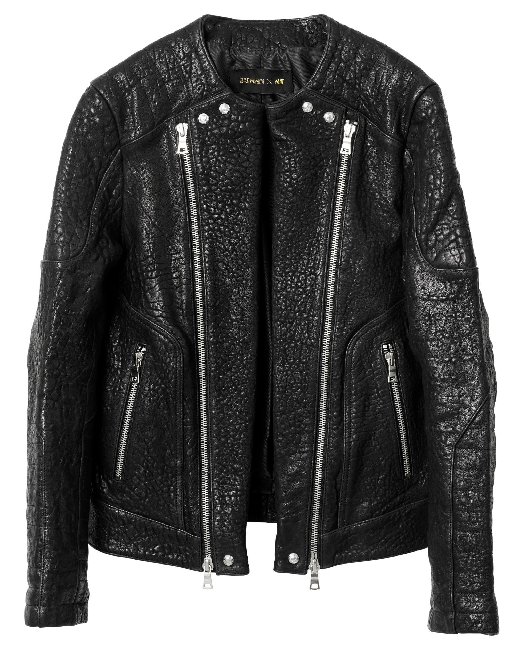 How to Shop Balmain x H&M on Thursday Black leather