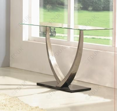 Exclusive Furniture Cassia Glass Console Table