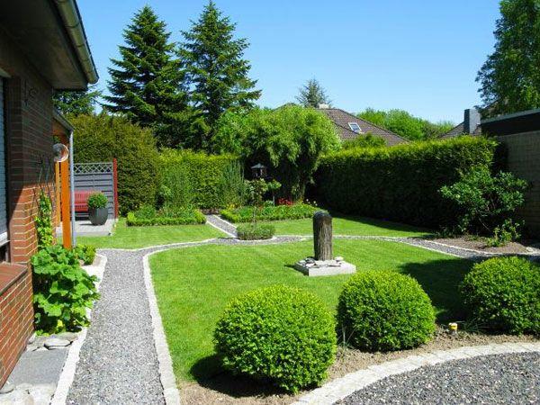 Gartengestaltung Ideen Modern schöne haus gestaltung grüne pflanzen im garten gartengestaltung