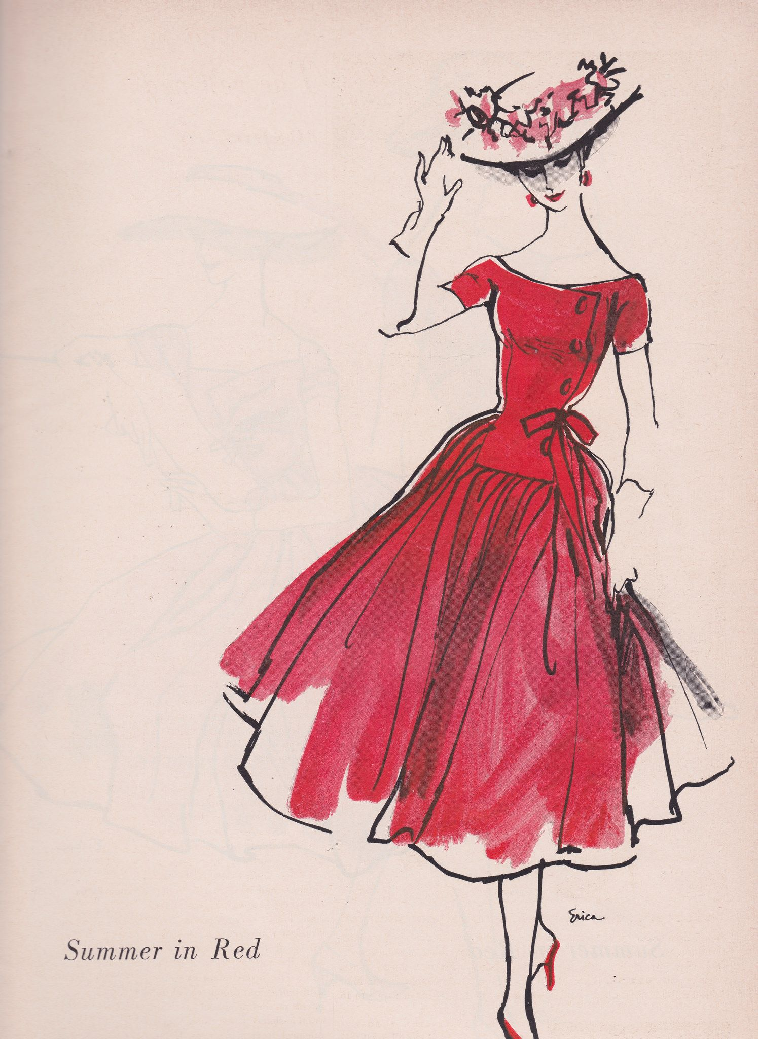 Photo of Mollie Parnis for Wamsutta 1956