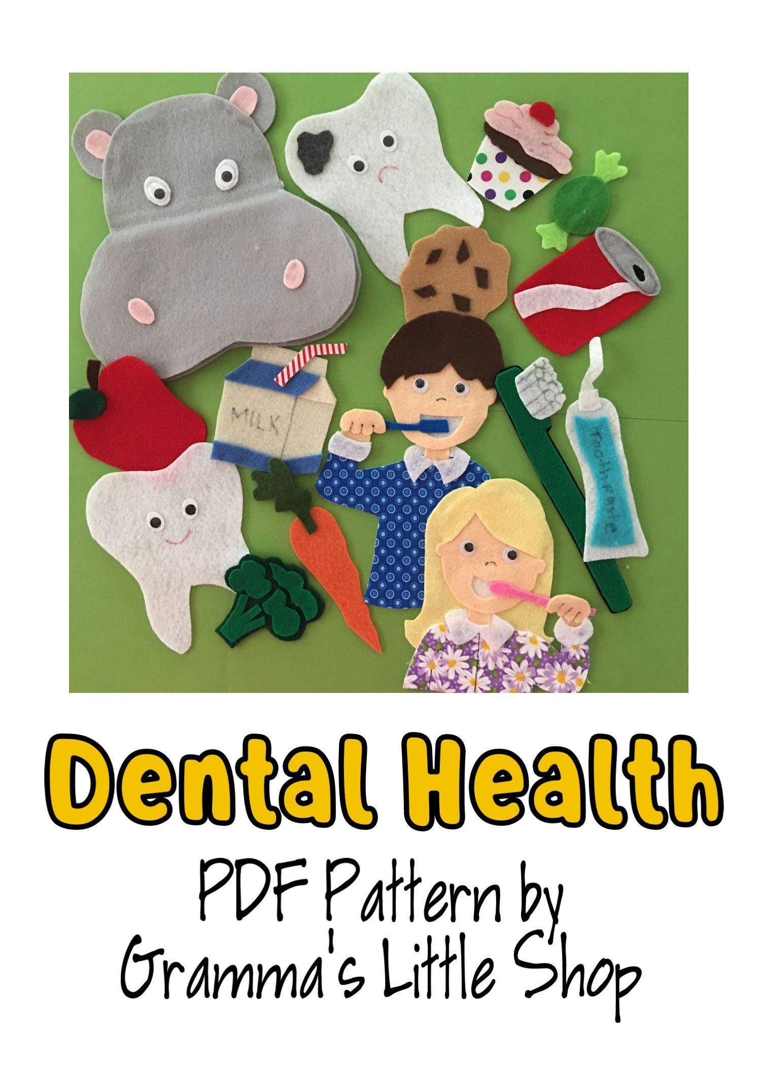 Dental Health Week Felt Story Pattern