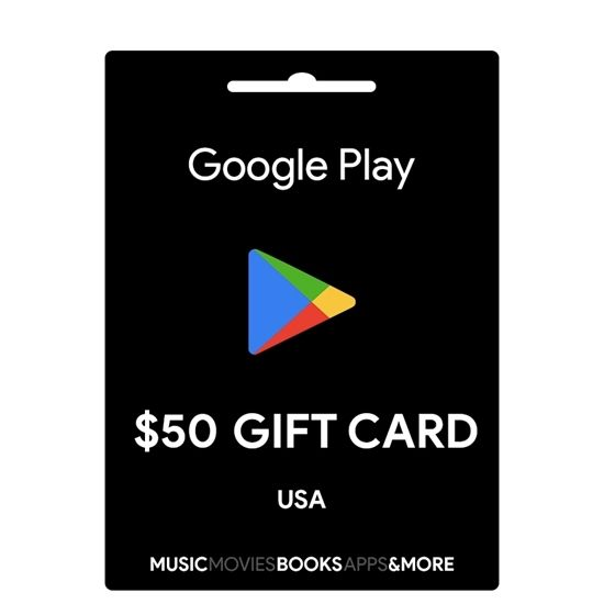 Google Play Gift Card 50 (US Region) Email Delivery