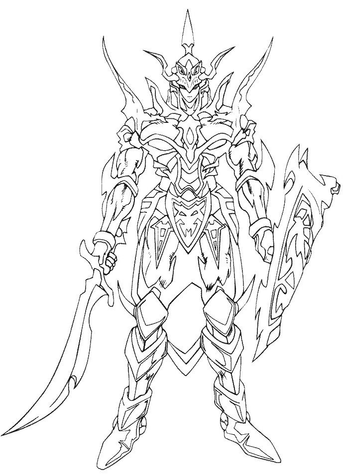 Monster Card Black Luster Soldier Coloring Pages | concepty-ishness ...