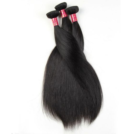 Brazilian Hair Weave Bundles Virgin Straight Hair 4pcs Lot Remy Mink