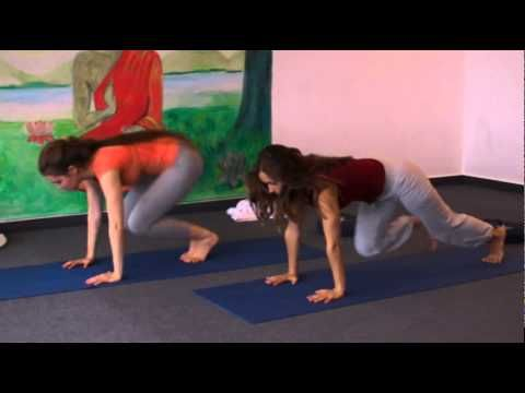 yoga class with affirmations  for intermediate students