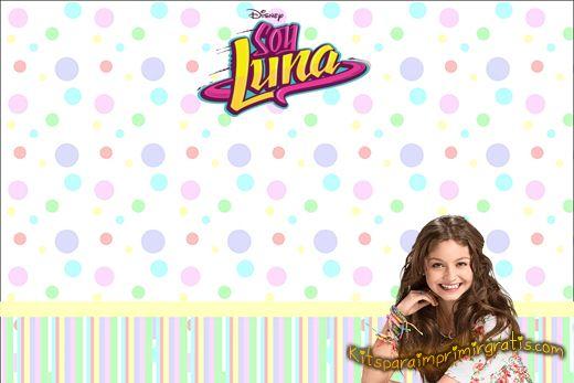 Tarjetas Soy Luna Fiesta Invitaciones Soy Luna Fiesta