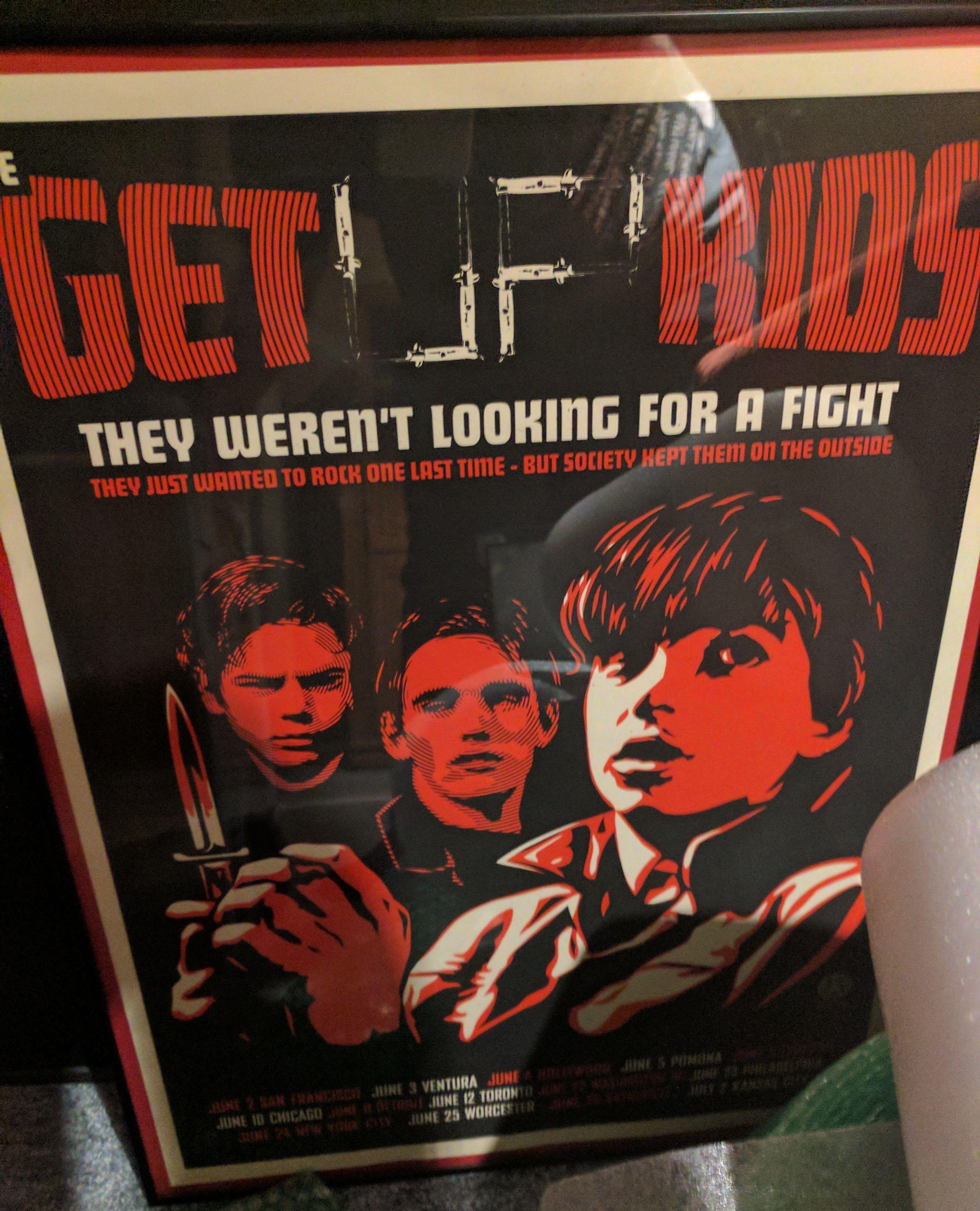"Get Up Kids poster 18"" x 24"" Frame 19 1/4"" x 25 1/4"""