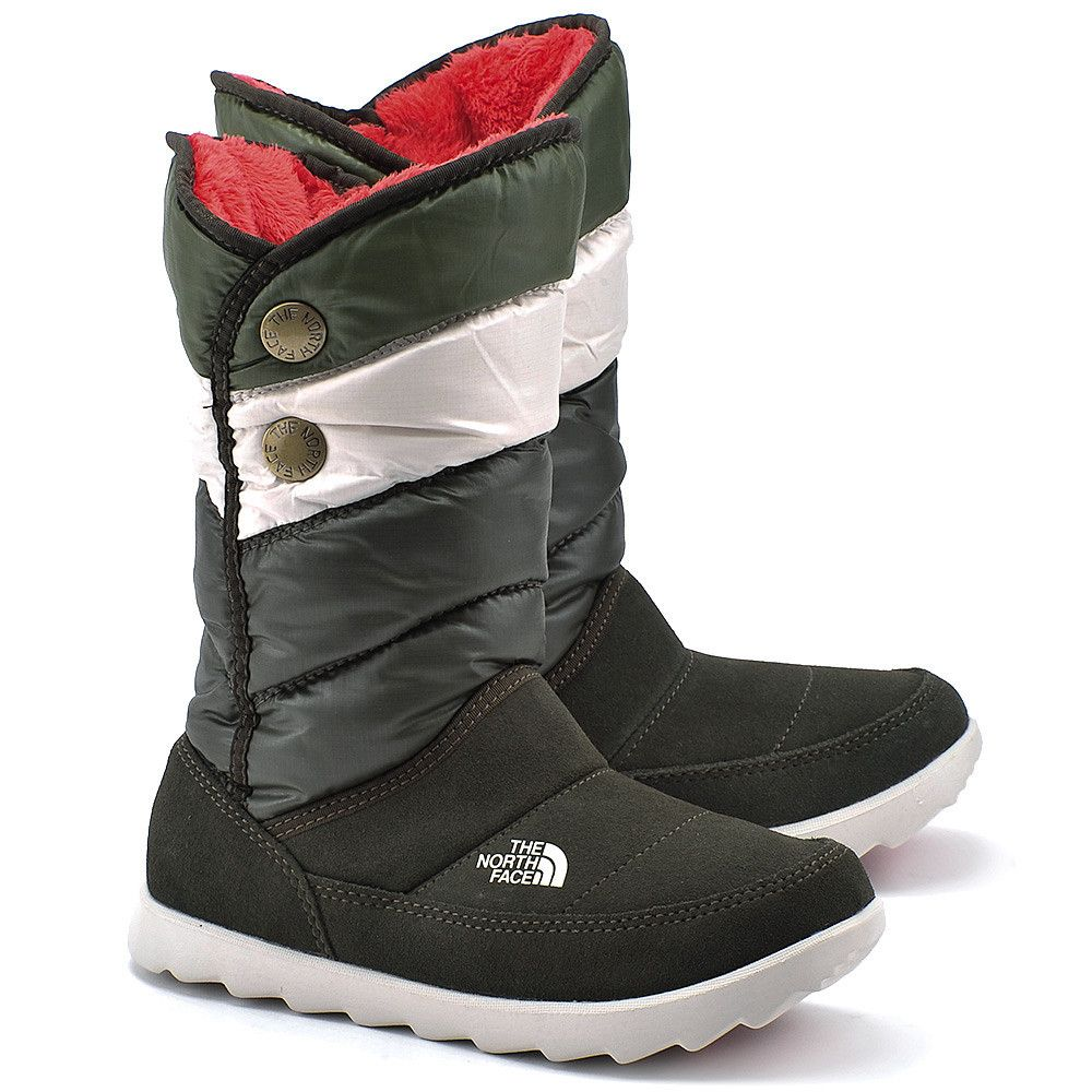 The North Face Sopris Zielone Zamszowe Sniegowce Damskie Buty Kobiety Sniegowce Mivo Boots The North Face Winter Boot