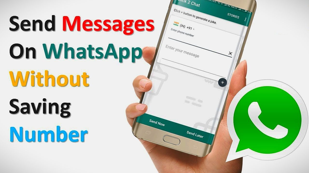 How to send a message to a number on whatsapp without