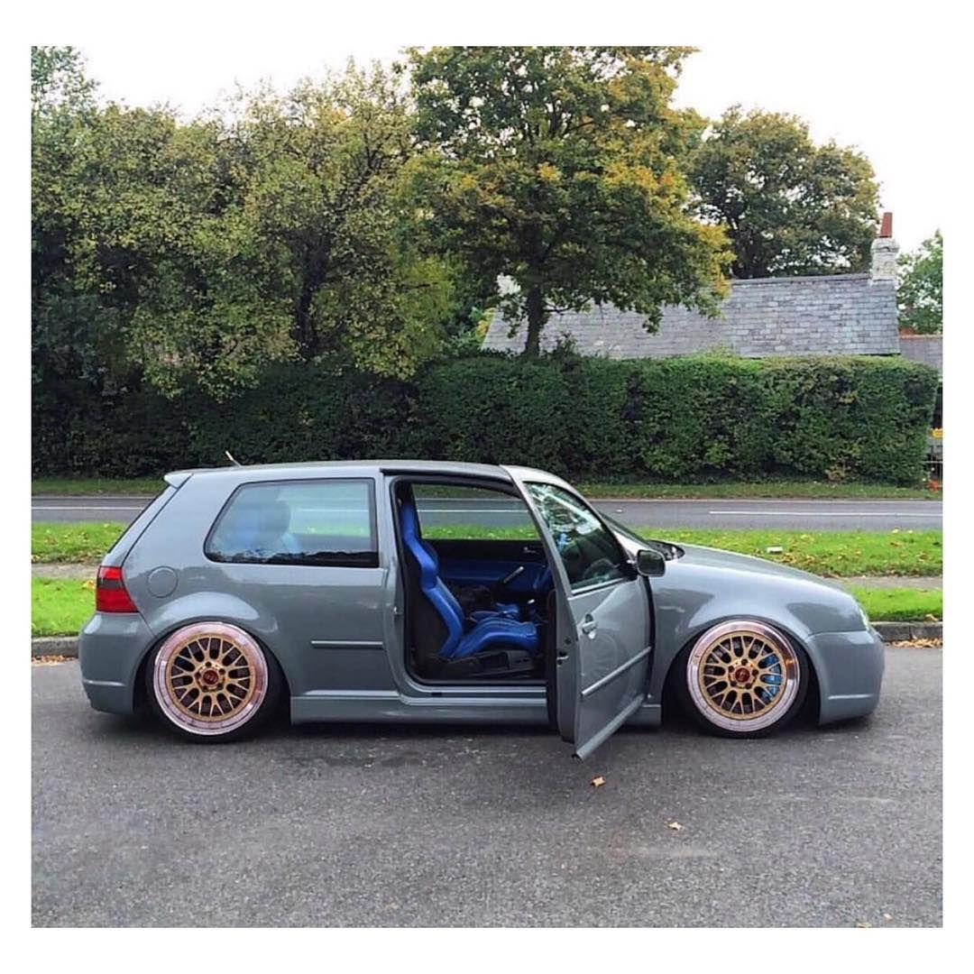 Vw Mk4 Grey With Blue Interior Seats Door Panels Gold Wheels Auto S En Motoren Volkswagen Auto S