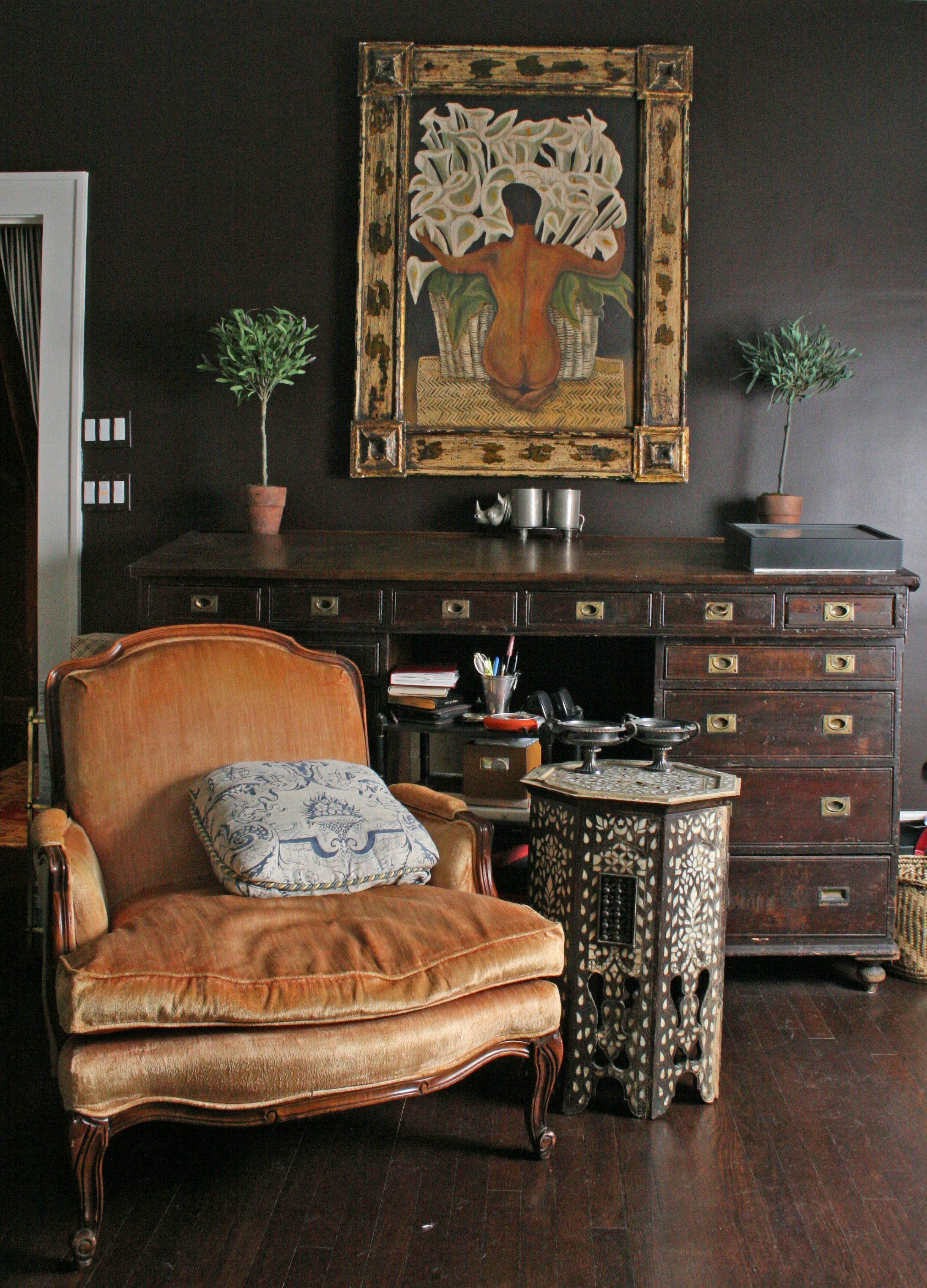Richard Holley Design corner of bedroom from