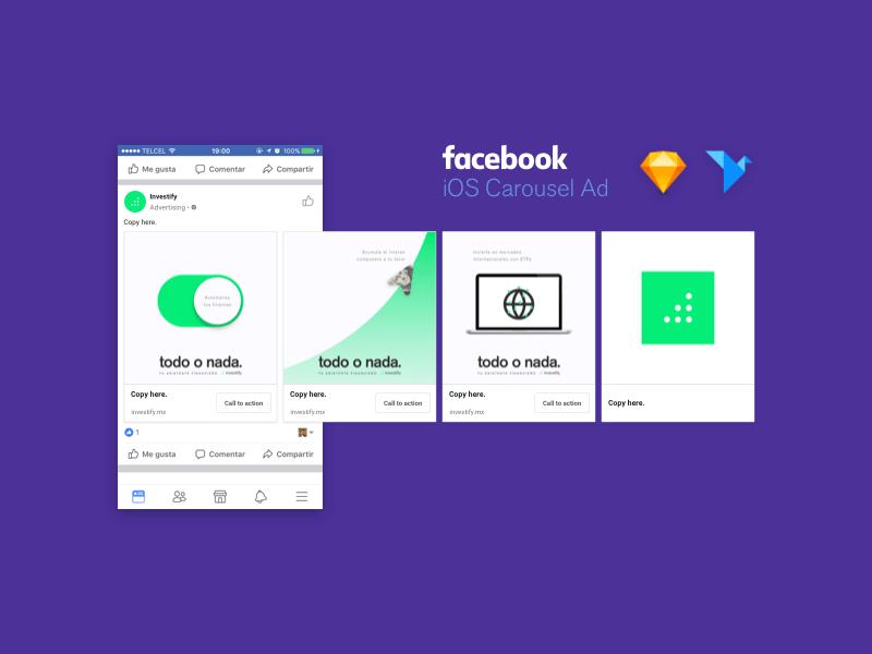 ios facebook carousel ad
