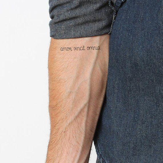 Amor Vincent Omnia - Temporary Tattoo (Set of 2)