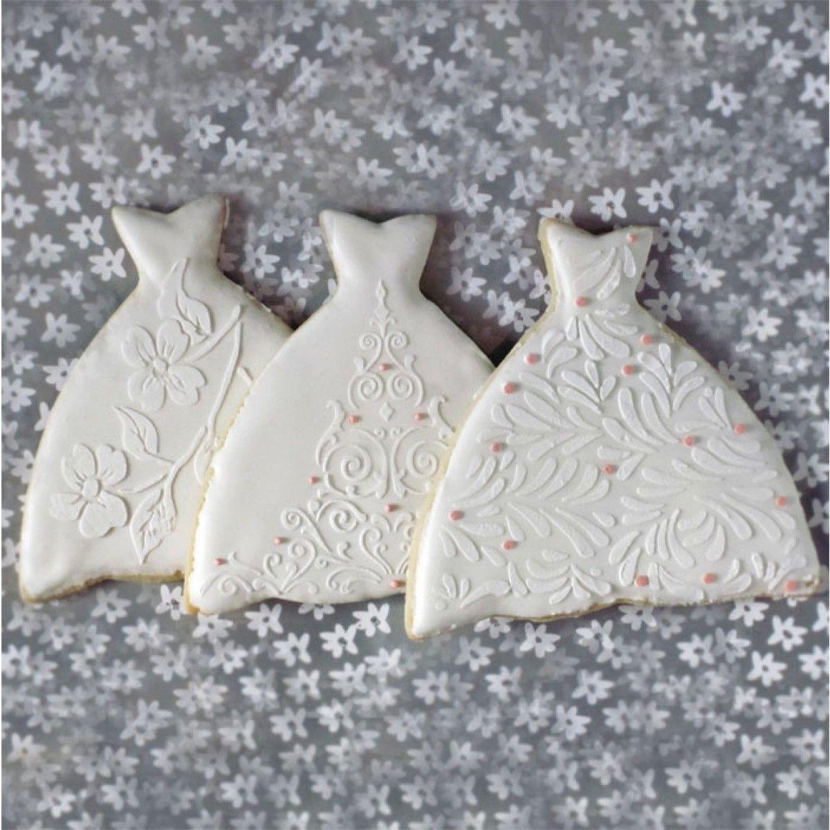 Ball Gown Cookie Stencil Set