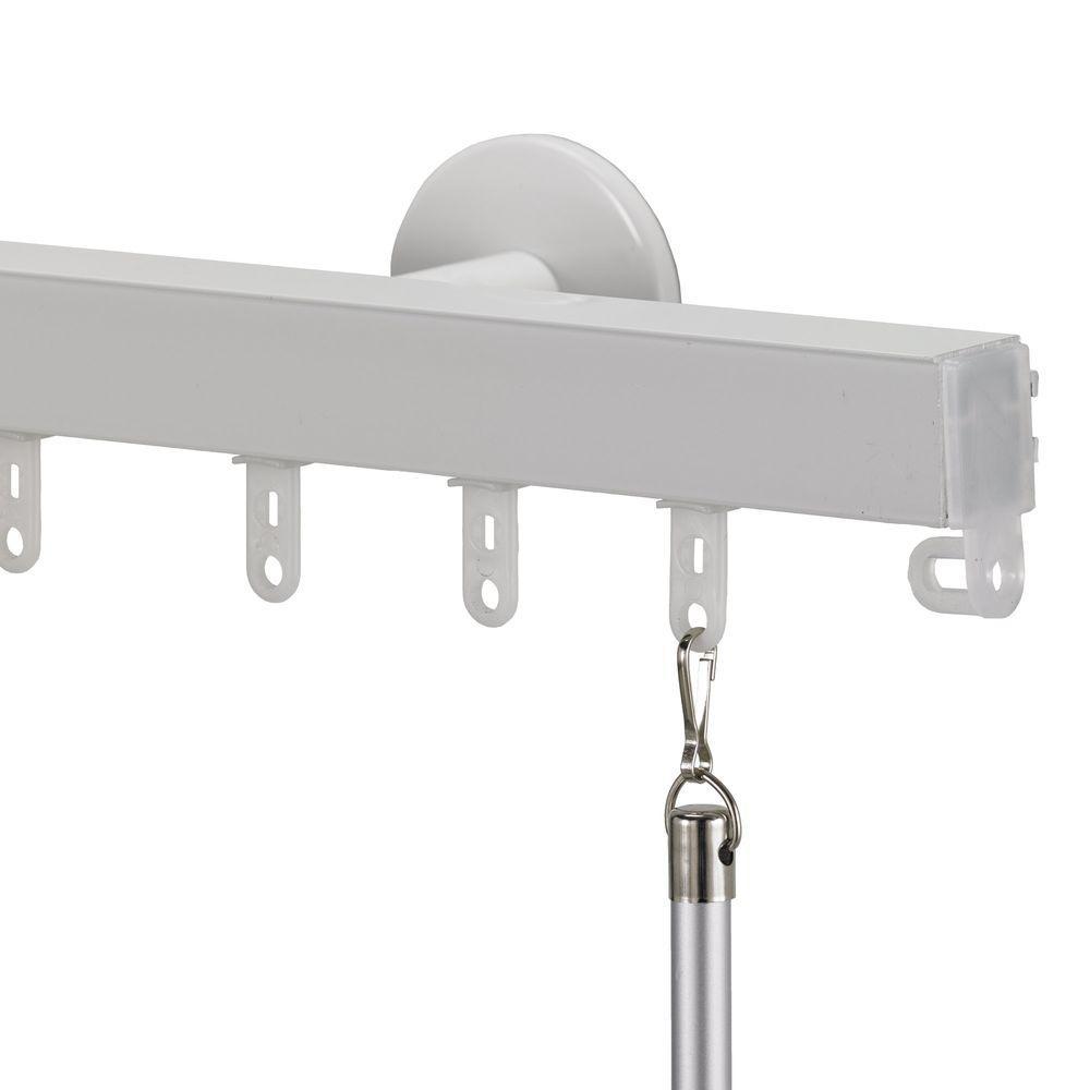 Art Decor Nexgen Non Telescoping 96 In Aluminum Traverse Rod In