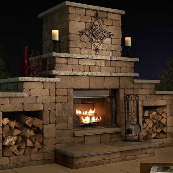 Necessories Grand Outdoor Fireplace In 2020 Fireplace Kits Outdoor Fireplace Kits Backyard Fireplace