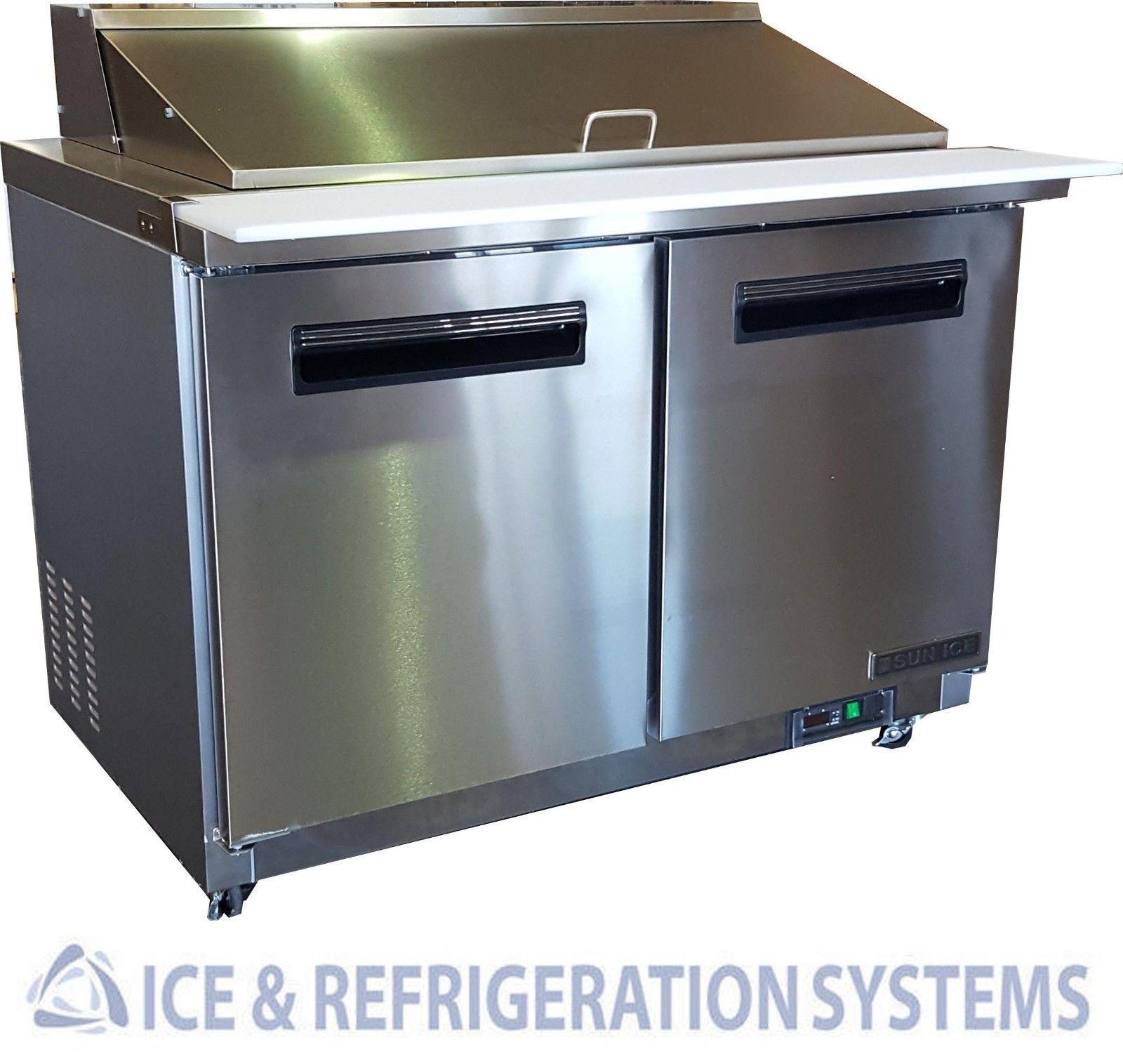 SUN ICE COMMERCIAL SALAD SANDWICH MEGA TOP PREP TABLE COOLER - Sandwich prep table cooler