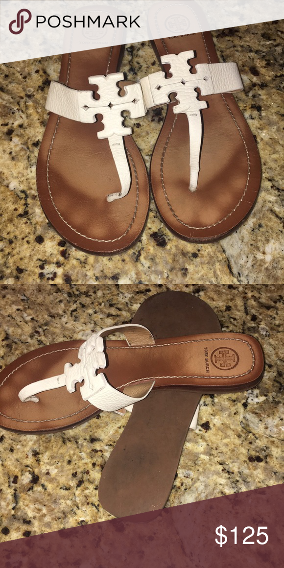 57cf6d93a942 Tory Burch white Sandals 8.5 These run true to size unlike the Millers they  are white and gently used condition worn only handful of times Tory Burch  Shoes ...