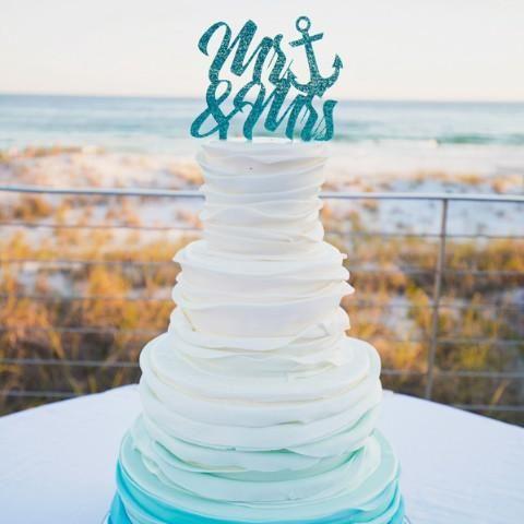 Wedding Cake Topper Anchor Mr Mrs Wedding Cake Toppers Nautical Wedding Wedding Themes