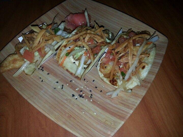 Hawaiian fish tacos