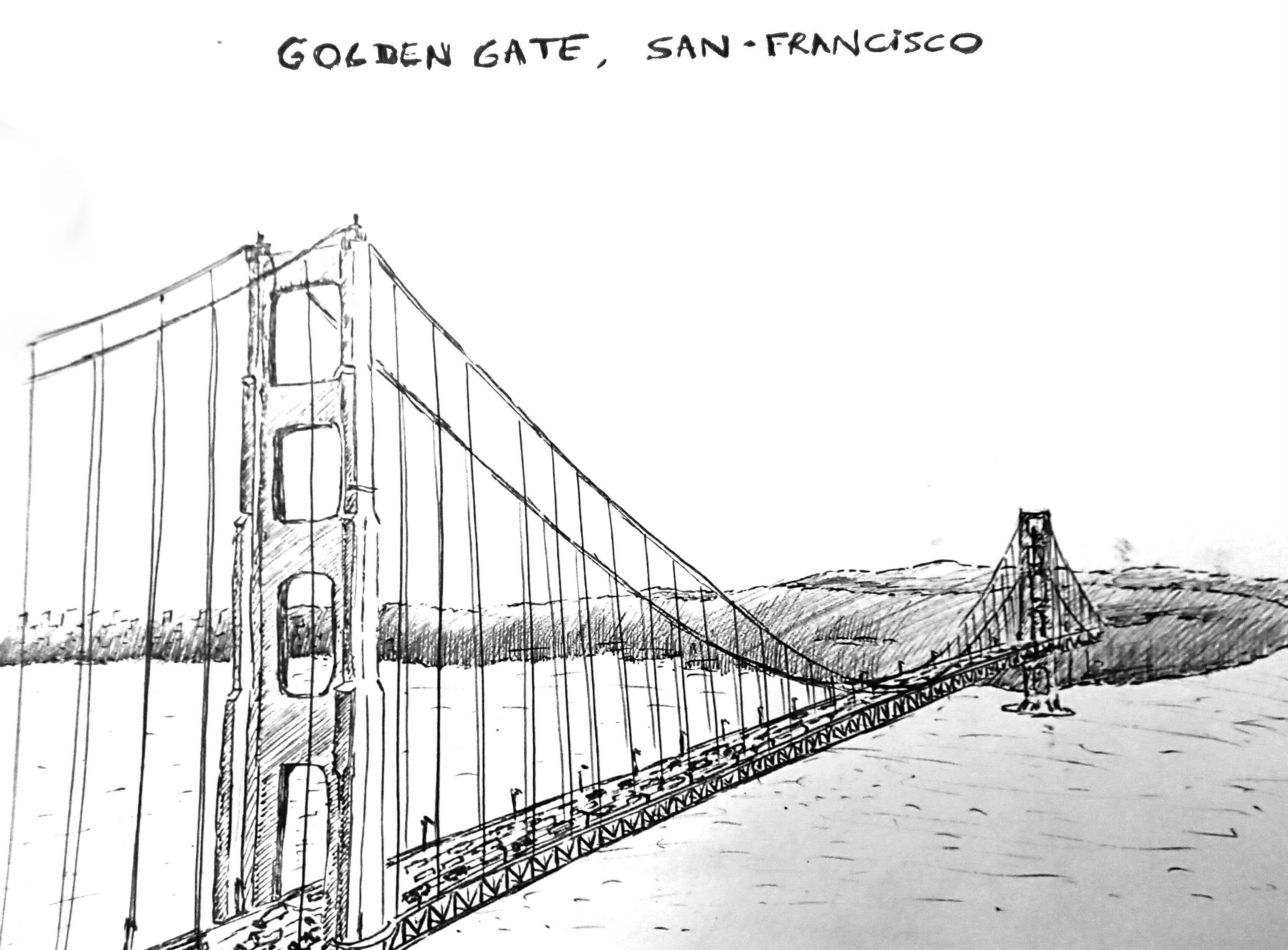 printable golden gate bridge - Google zoeken  Golden gate, Golden