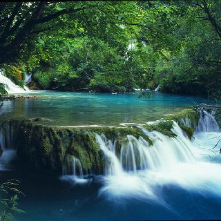 The Plitvice park and its waterfalls