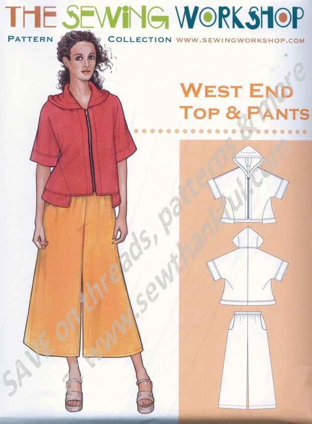 West End Top And Pants Pattern From The Sewing Workshop Pants