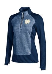 Under Armour Fighting Irish Womens Eclipse CGI Navy Blue 1/4 Zip Performance Pullover