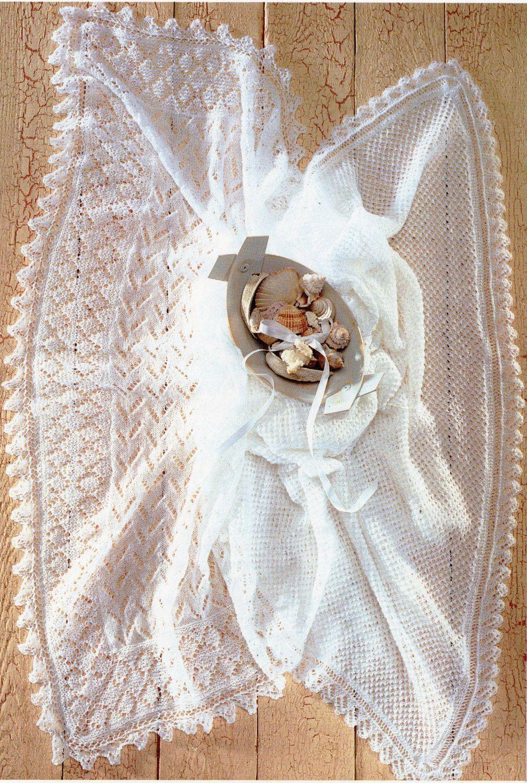 Baby 2ply Shawls Knitting Pattern Pdf Lace Christening Shawl Square
