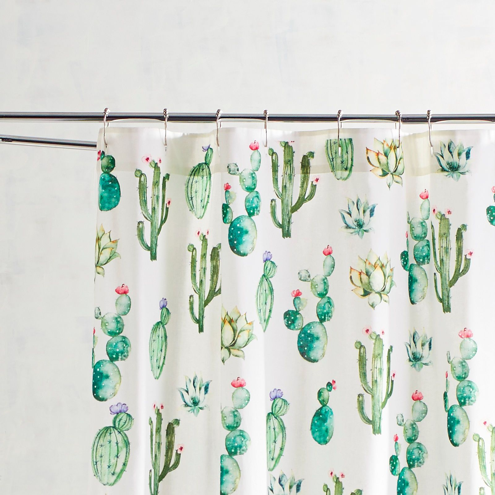 Watercolor Cactus Shower Curtain In 2019 Shower Curtains For All