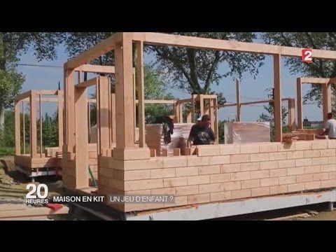 Construction du0027une maison bois en kit - YouTube дом Pinterest - jeux de construction de maison en d