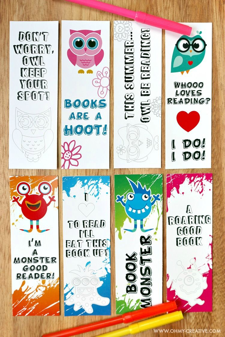 Printable Bookmark Coloring Pages For Kids Raising Kids Free