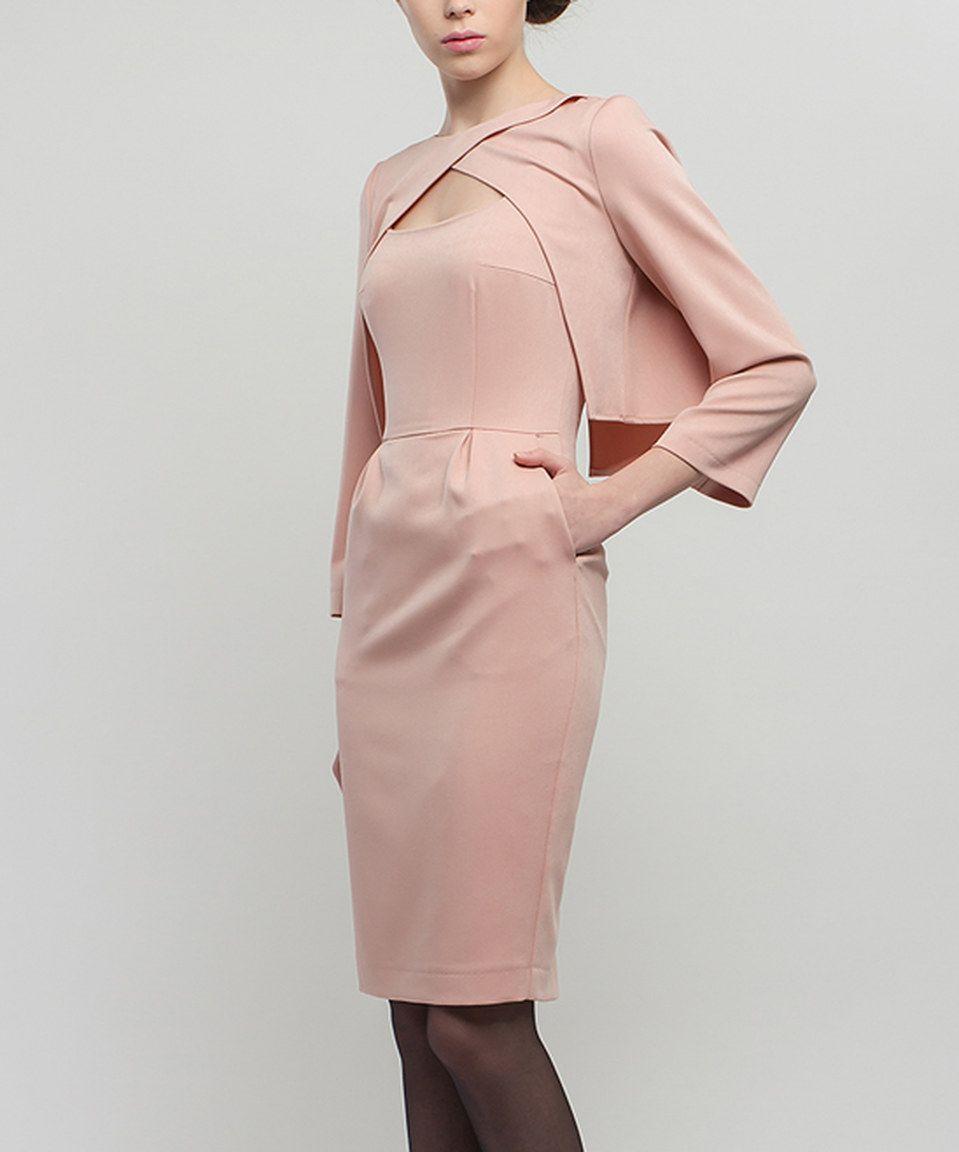 BGL Beige Sheath Dress & Open Jacket | Sheath dresses, Dresses and ...