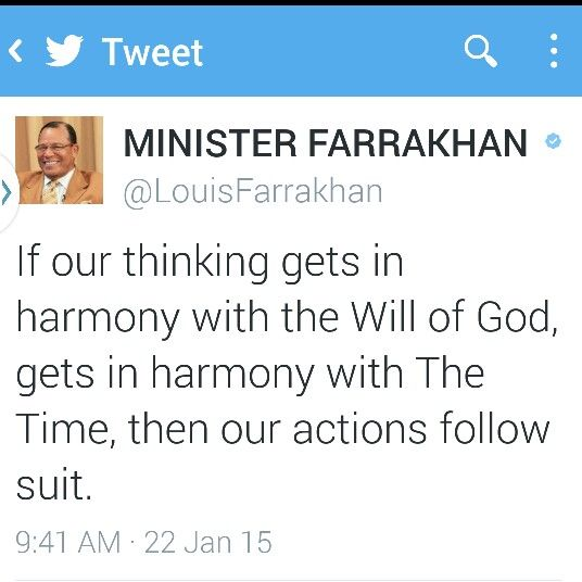 Min Louis #Farrakhan on being in #Harmony with #God & #TheTime