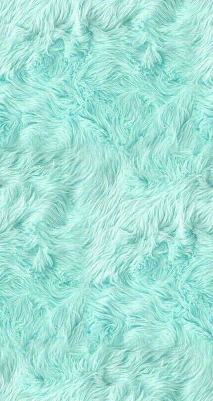 FURRY Fuzzy Awesome Pastel Mint Green Color