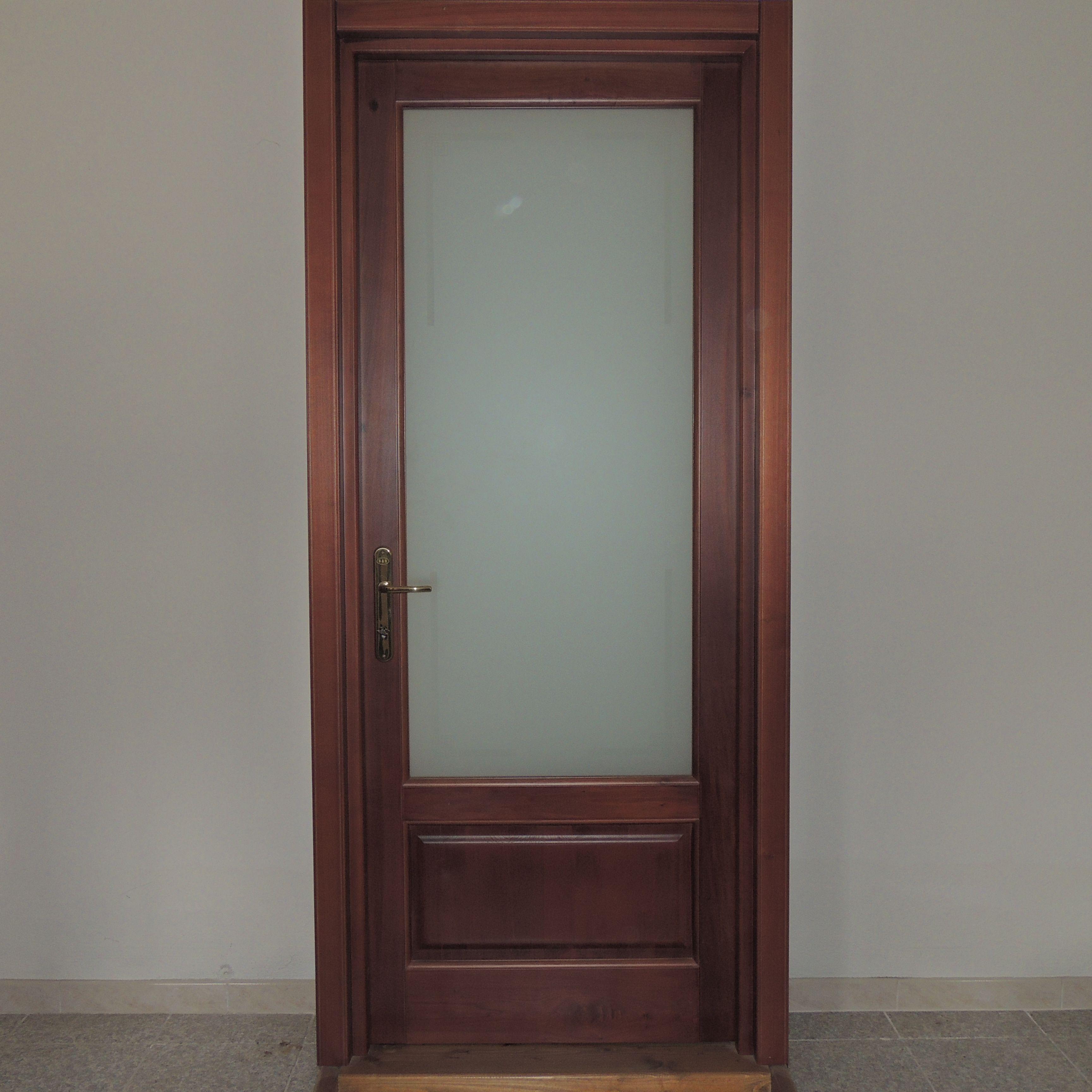 Porta in massello di toulipier con pannello in legno e - Pannello decorativo per porte ...