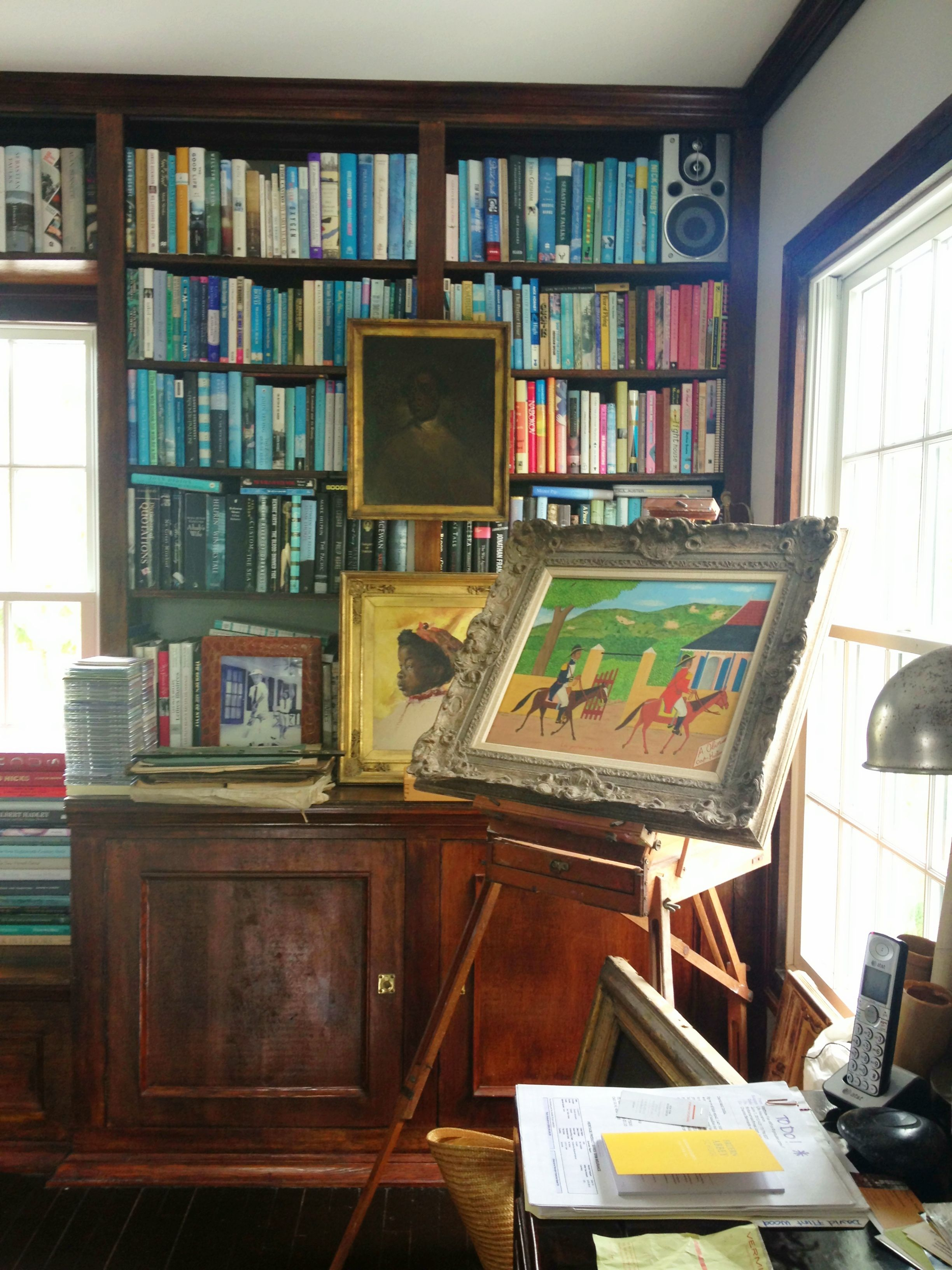 Private Library Study Rooms: Opposite To India's Office Is Her Husband David's Office