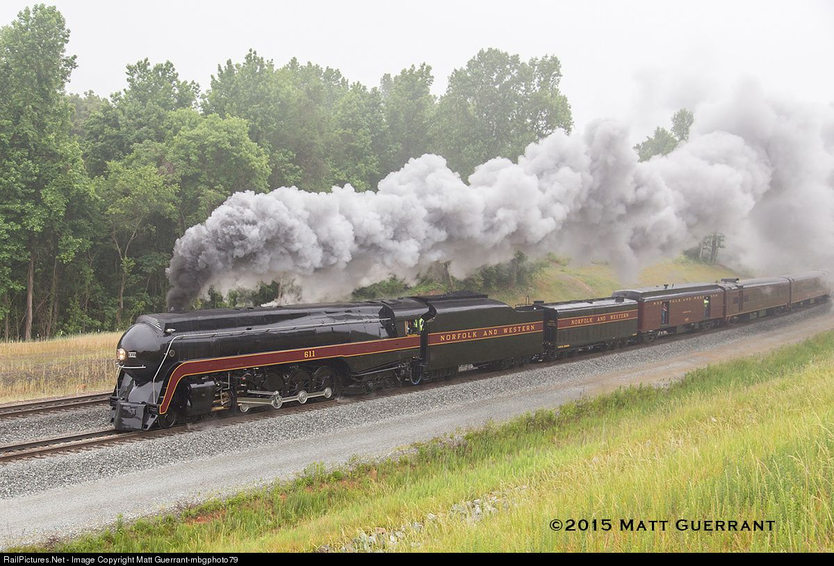 RailPictures.Net Photo: NW 611 Norfolk & Western Steam 4-8-4 at Spencer, North Carolina by Matt Guerrant-mbgphoto79