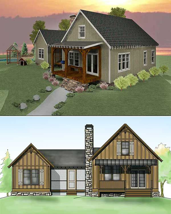 Plan 92318mx 3 bedroom dog trot house plan narrow lot for Dogtrot home plans