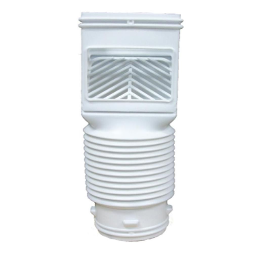 Invisaflow Flex Grate White Downspout Filter 4490 The Home Depot Rain Water Collection System Gutter Drainage Downspout