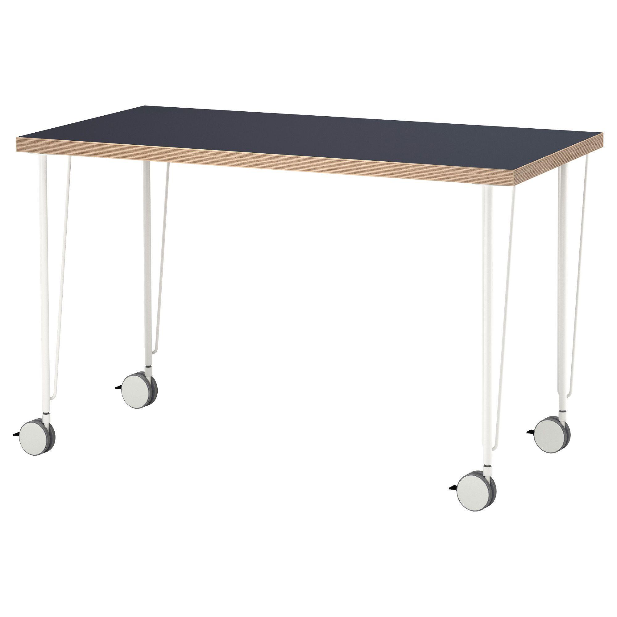 Linnmon Krille Stół Niebieski Biały Ikea Pinterest Ikea