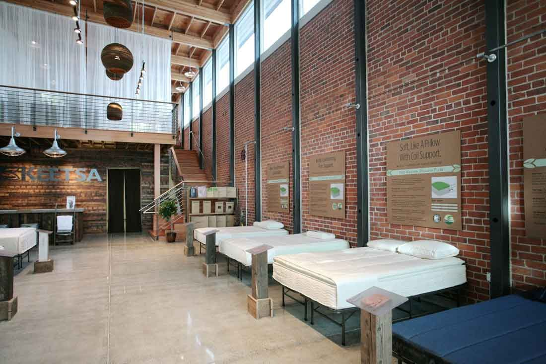 Berkeley Keetsa Store Interior Brick Wall With