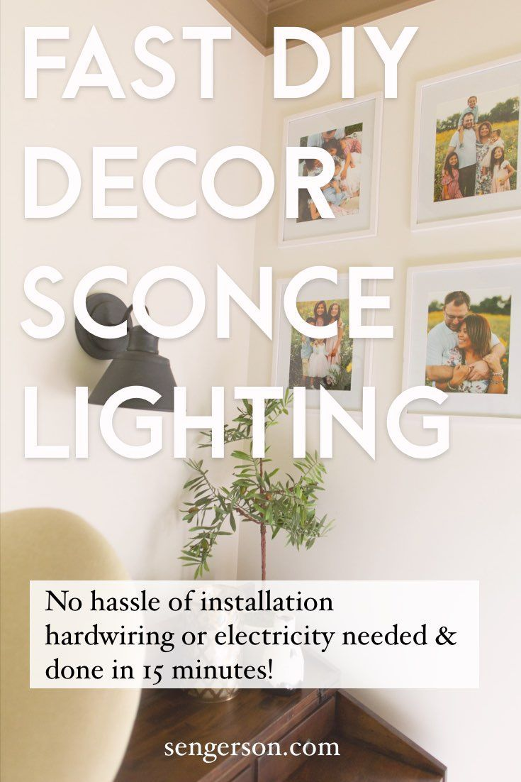 DIY Wall Sconce Lighting without Electricity or Power ... on Sconces No Electric Power id=69694