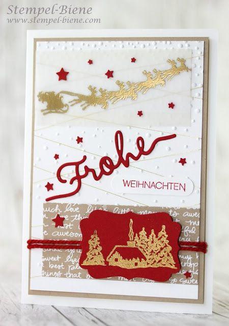 Weihnachtsgrüße Jpg.Stampin Up Winterliche Weihnachtsgrüße Christmas Cards