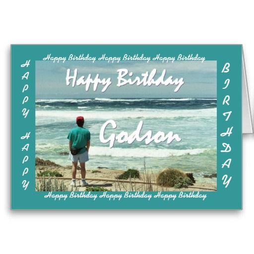 Godson Happy Birthday Man And Ocean Waves Card Zazzle Com