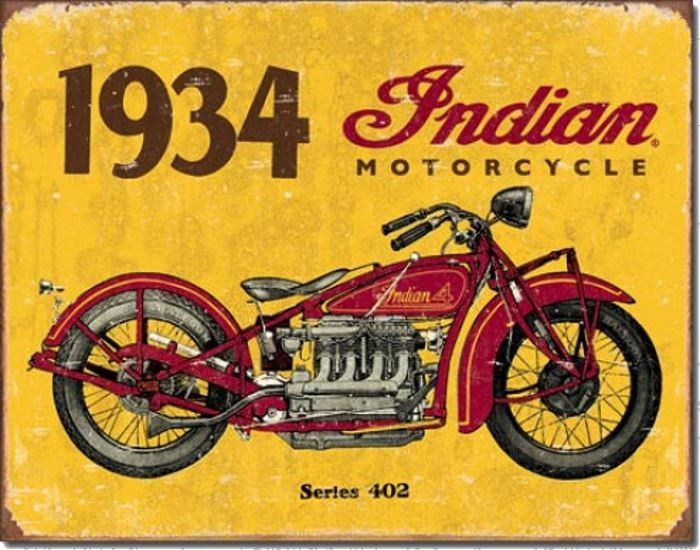 Indian series 402 1934 d coration vintage pour cr er for Ouvrir son garage moto