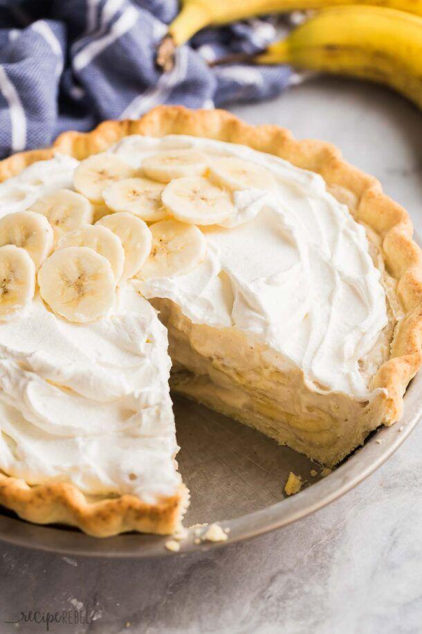 Banana Cream Pie - made easier! - The Recipe Rebel #sugarcreampie