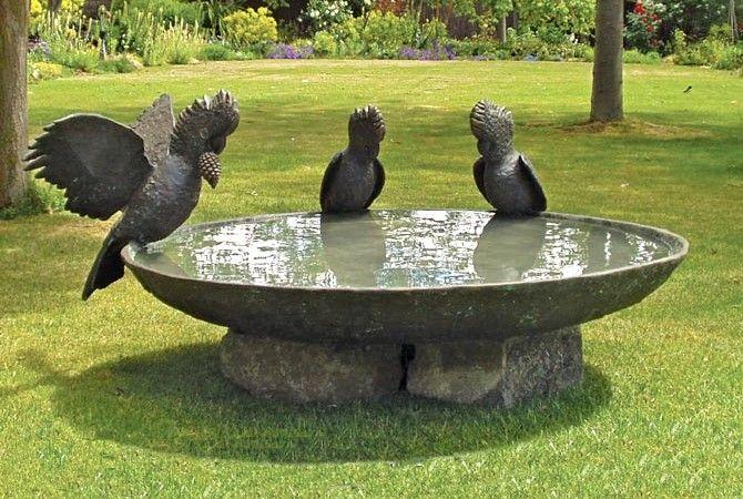 Fun Garden Accessories Home Trendy Bird Bath Large Bird Baths Garden Sculpture