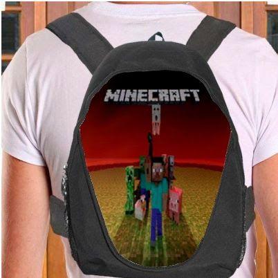minecraft backpack bag, minecraft school bag, minecraft rucksack, minecraft gift